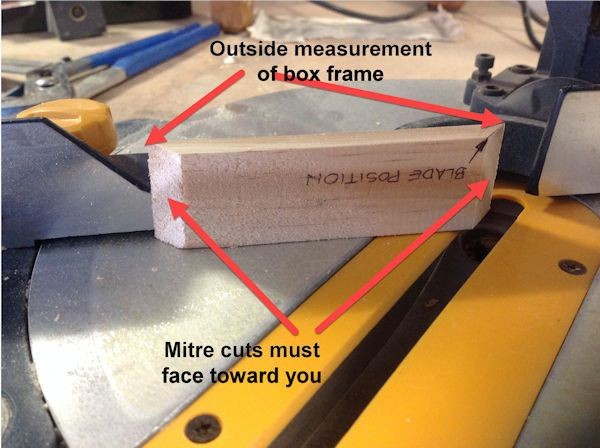 Box frame side outside measurements