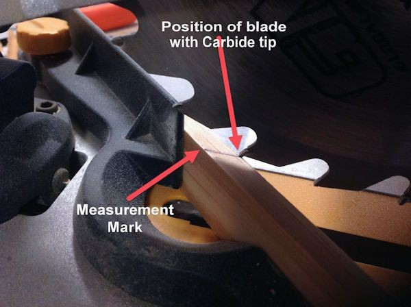 Blade measurement with Carbide tip