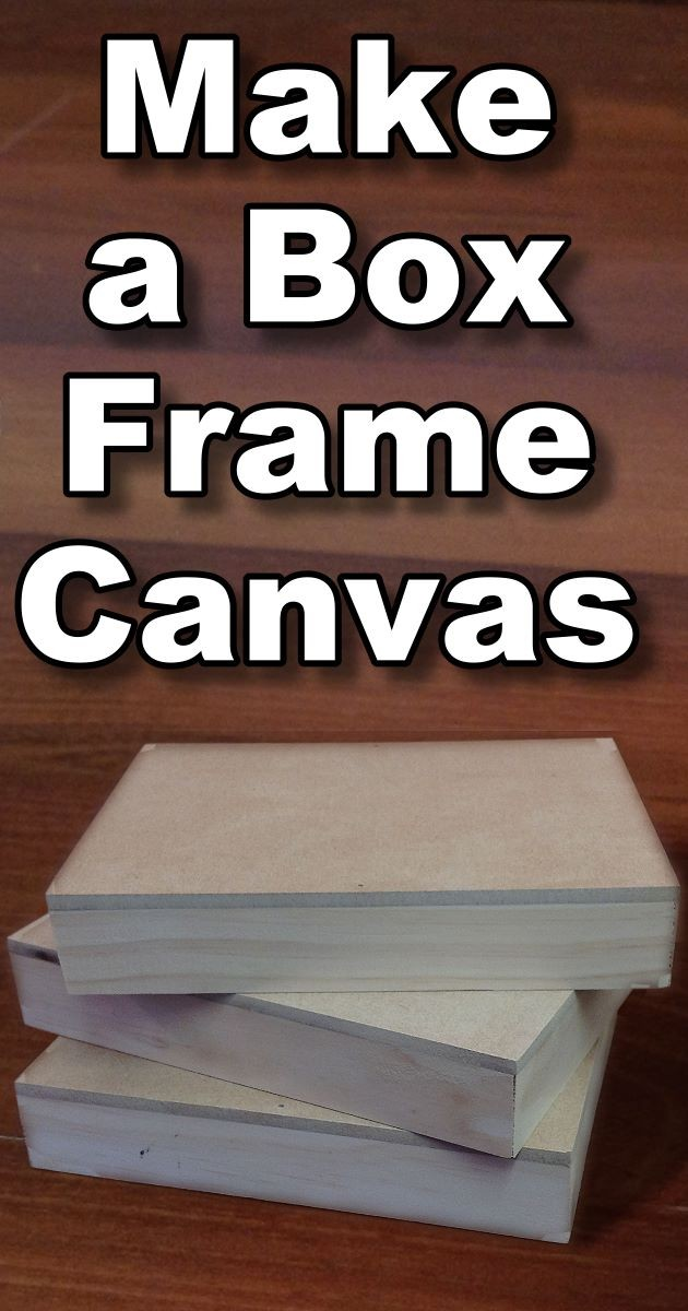 Learn how to box framed canvas in this online art class. You can use these homemade canvasses for oil, acrylic, mixed media as well as watercolour painting. online art lessons, online painting classes, dennis clark, paint basket