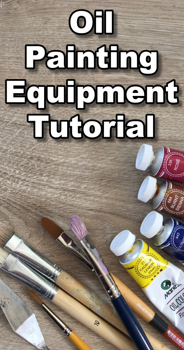 Oil painting equipment tutorial. Learn all about oil painting brushes, canvas, paint and more.